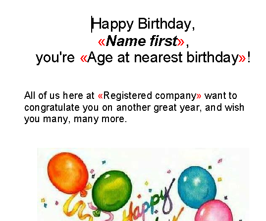 Birthday Wishes Letter Examples